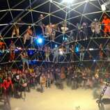 Thunderdome. Legendary. Run by the infamously grimy, super-goth metalhead camp known as Death Guild. They had killer dodgeball, jousting, crazy MCs and rockin' DJs. Terrible picture, I know. But oh so fun to climb, watch, scream.