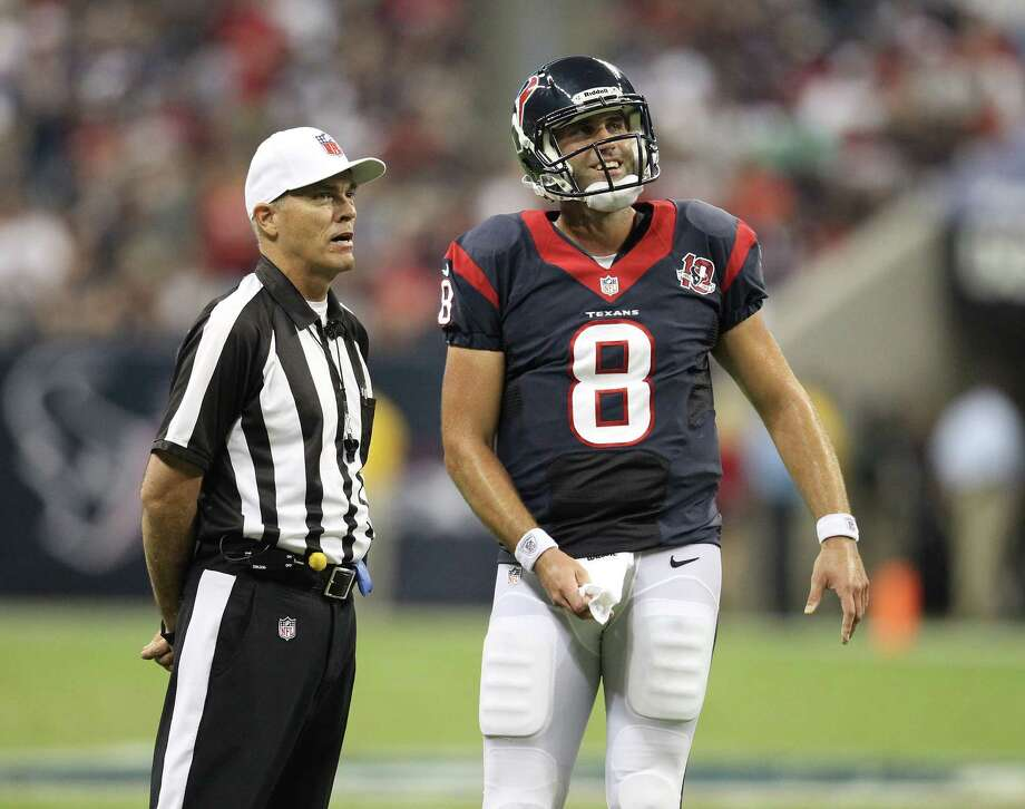 Texans QB Matt Schaub and other veterans aren't taking anything for granted in the season opener against the Dolphins. Photo: Karen Warren, Houston Chronicle / © 2012  Houston Chronicle