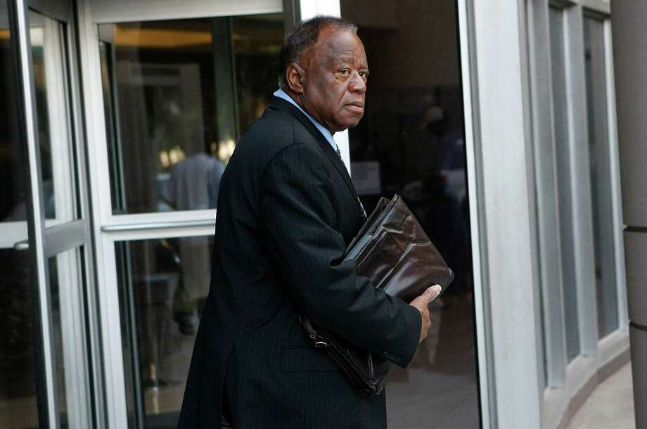 Houston lawyer, Joe Phillips, walks out of the Bob Casey Federal Courthouse Thursday, June 14, 2012, in Houston.  He and his wife are accused of  stealing $2 million from two dozen veterans in another pending case described as the largest rip-off ever reported in the VA fiduciary program.  ( Johnny Hanson / Houston Chronicle ) Photo: Johnny Hanson / © 2012  Houston Chronicle