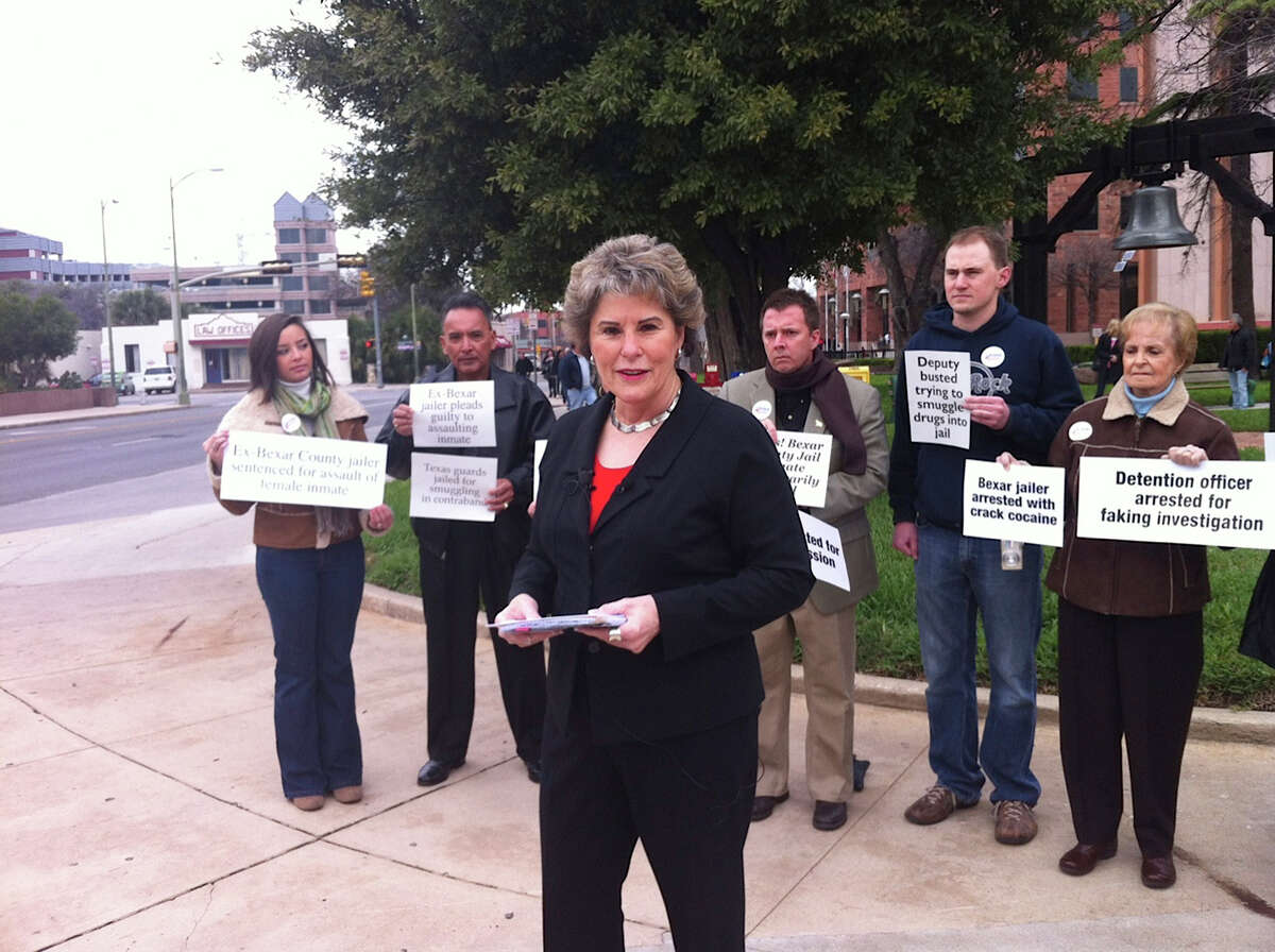 GOP candidate for sheriff Susan Pamerleau was backed by several supporters at the Bexar County Courthouse on Feb. 7 when she first unveiled a long list of criticisms of Sheriff Amadeo Ortiz. Pamerleau, who faces Ortiz in the Nov. 6 general election, alleged a pattern of mismanagement by the Democratic incumbent, and now she's saying the pattern continues. Pamerleau said this week that the heat-related deaths of two K-9s in a deputy's vehicle are only the latest missteps at the Sheriff's Office.