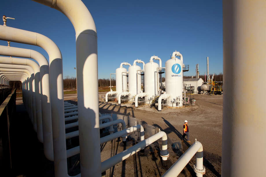 The existing Union Gas Dawn Hub near Sarnia, Ontario, would be a destination for natural gas carried from Ohio's Utica shale by the proposed Nexus natural gas transmission system. Union Gas is owned by Houston-based Spectra Energy. Photo: Ken Childress Photography / ©2011 Ken Childress