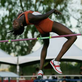 Texas' Destinee Hooker competes in the high jump in this undated photo. Photo: Courtesy Photo