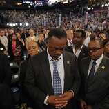 Rev. Jesse Jackson prays during benediction at the Democratic National Convention in Charlotte, N.C., on Tuesday, Sept. 4, 2012. (AP Photo/Charles Dharapak)