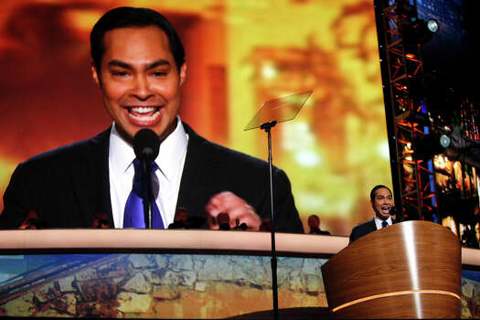Mayor Julian Castro delivers the keynote address on the first night of the Democratic National Convention at Time Warner Cable Arena in Charlotte, NC on Tuesday, Sept. 4, 2012. Photo: Lisa Krantz, San Antonio Express-News / San Antonio Express-News