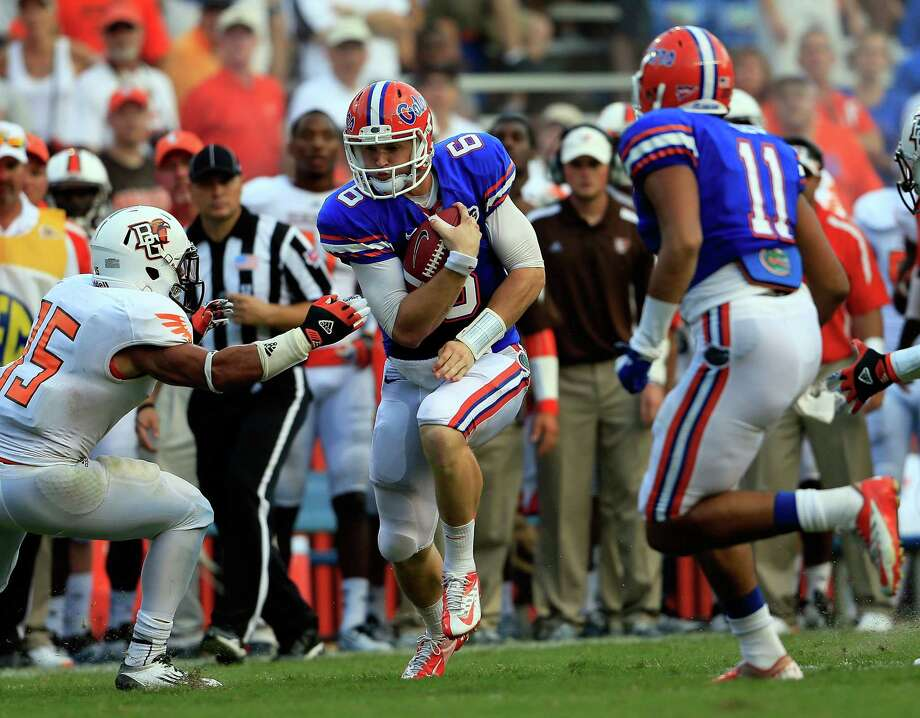 GAINESVILLE, FL - SEPTEMBER 01:  Jeff Driskel #6 of the Florida Gators scrambles for yardage during the game against the Bowling Green Falcons at Ben Hill Griffin Stadium on September 1, 2012 in Gainesville, Florida. Photo: Sam Greenwood, Getty Images / 2012 Getty Images
