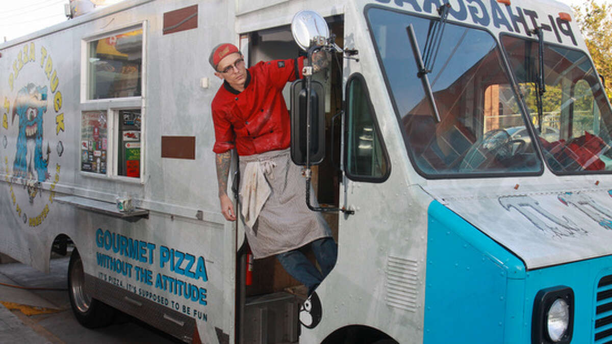 Get a Tattoo, Get Free Pizza As part of its annual customer appreciation party, the Pi Pizza food truck offers its most fanatical fans free pizza if they agree to get a pizza-themed tattoo permanently etched onto their skin. Check out the approved pizza designs from this year and years past...