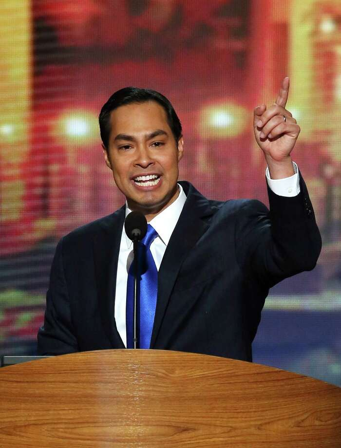 CHARLOTTE, NC - SEPTEMBER 04:  San Antonio Mayor Julian Castro gives the keynote address on stage during day one of the Democratic National Convention at Time Warner Cable Arena on September 4, 2012 in Charlotte, North Carolina. The DNC that will run through September 7, will nominate U.S. President Barack Obama as the Democratic presidential candidate. Photo: Alex Wong, Getty Images / 2012 Getty Images