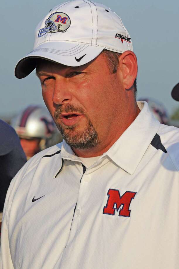 "Manvel football head coach Kirk Martin and his Mavericks are picked as the team to beat in District 22-5A in 2012 in ""Dave Campbell's Texas Football Magazine."" Manvel is also ranked No. 11 in the state. Photo: L. Scott Hainline / The Chronicle"
