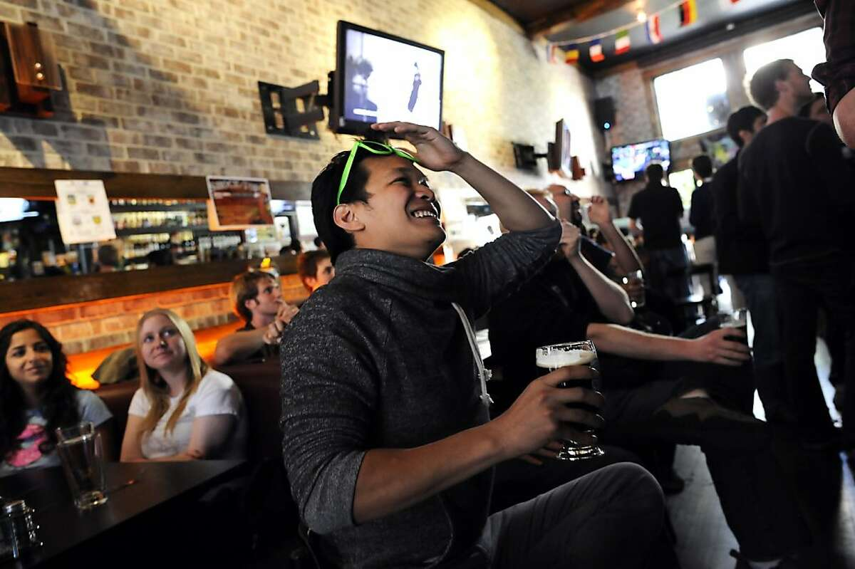 Kevin Mao of San Francisco reacts to a particularly tense moment in the competition.