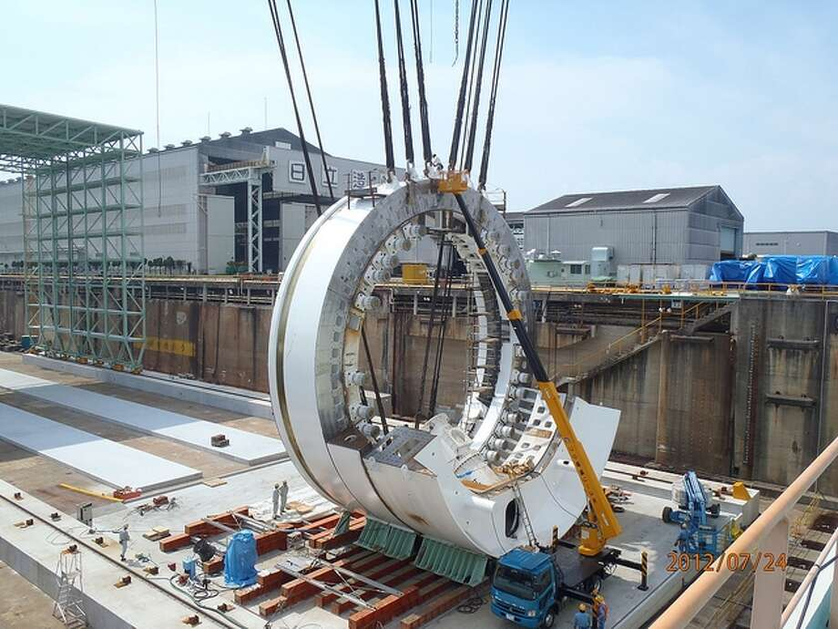 State Route 99 tunneling machine is shown during assembly in Osaka, Japan Photo: Washington State Department Of Transportation / Washington State Department of Transportation