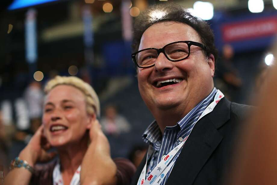 CHARLOTTE, NC - SEPTEMBER 05:  Actors Patricia Arquette and Wayne Knight (R) are interviewed on the floor prior to the start of day two of the Democratic National Convention at Time Warner Cable Arena on September 5, 2012 in Charlotte, North Carolina. The DNC that will run through September 7, will nominate U.S. President Barack Obama as the Democratic presidential candidate. Photo: Justin Sullivan, Getty Images