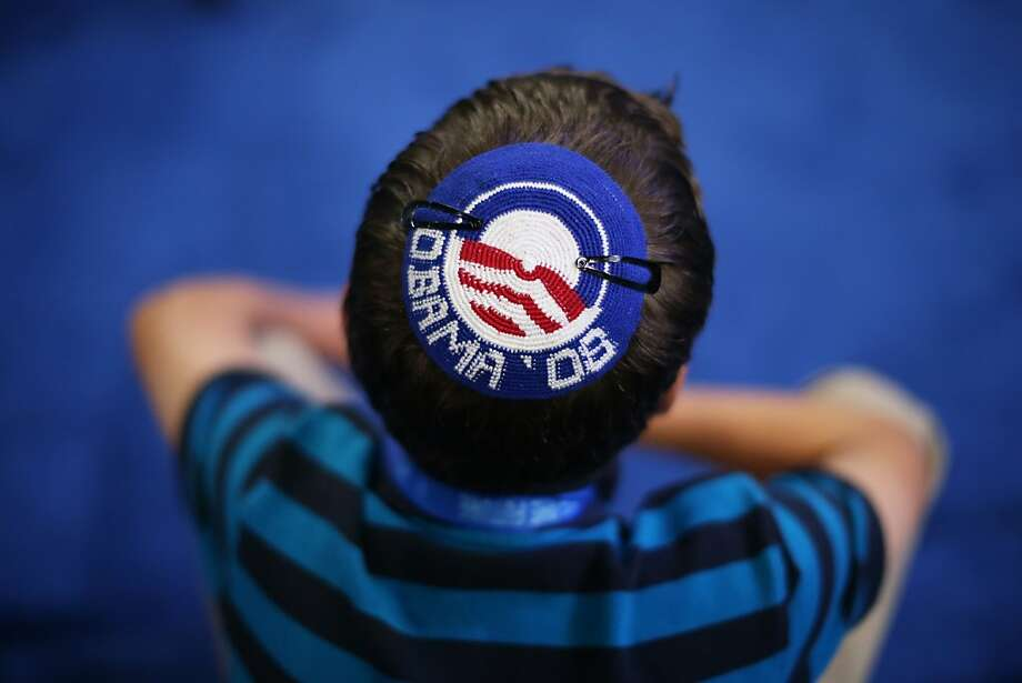 CHARLOTTE, NC - SEPTEMBER 05:  Joseph Block wears an Obama '08 yarmulke during day two of the Democratic National Convention at Time Warner Cable Arena on September 5, 2012 in Charlotte, North Carolina. The DNC that will run through September 7, will nominate U.S. President Barack Obama as the Democratic presidential candidate. Photo: Justin Sullivan, Getty Images