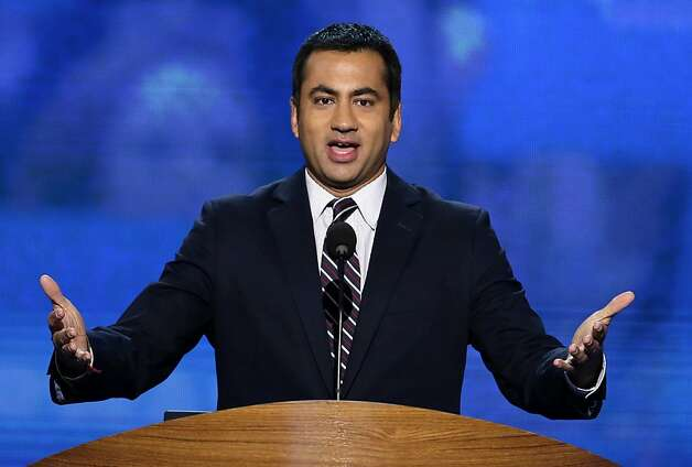 Actor Kal Penn addresses the Democratic National Convention in Charlotte, N.C., on Tuesday, Sept. 4, 2012. (AP Photo/J. Scott Applewhite) Photo: J. Scott Applewhite, Associated Press