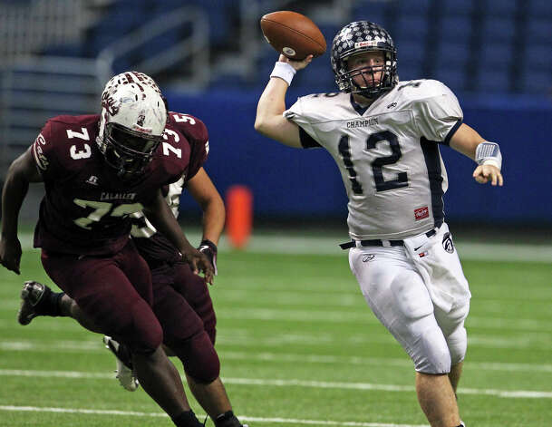 Boerne Champion quarterback John Free had his 565-yard area record eclipsed by Kyle Poeske last week.  Tom Reel/Express-News Photo: TOM REEL, SAN ANTONIO EXPRESS-NEWS / © 2010 San Antonio Express-News