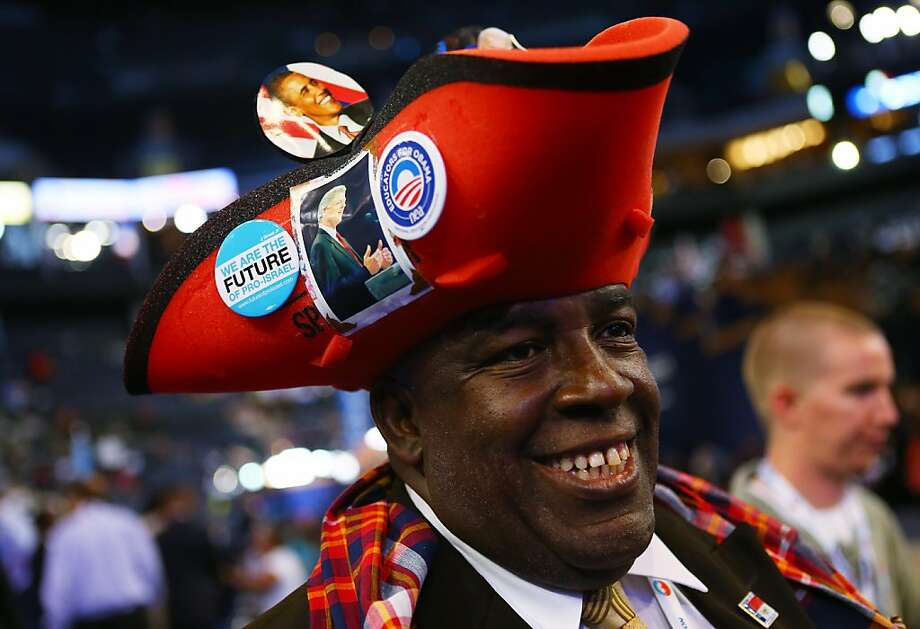 CHARLOTTE, NC - SEPTEMBER 05:   Edward Baker Phillips wears a hat with a picture of Former U.S. President Bill Clinton on it during day two of the Democratic National Convention at Time Warner Cable Arena on September 5, 2012 in Charlotte, North Carolina. The DNC that will run through September 7, will nominate U.S. President Barack Obama as the Democratic presidential candidate. Photo: Joe Raedle, Getty Images