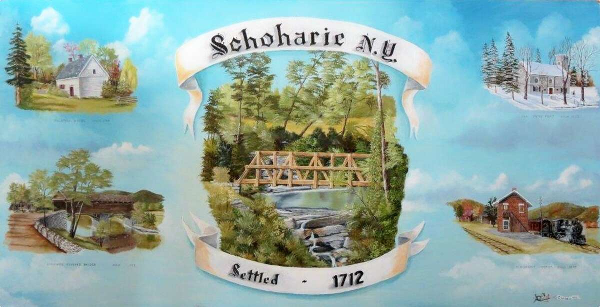 Village of Schoharie stamp. (Courtesy Darlene Patterson)