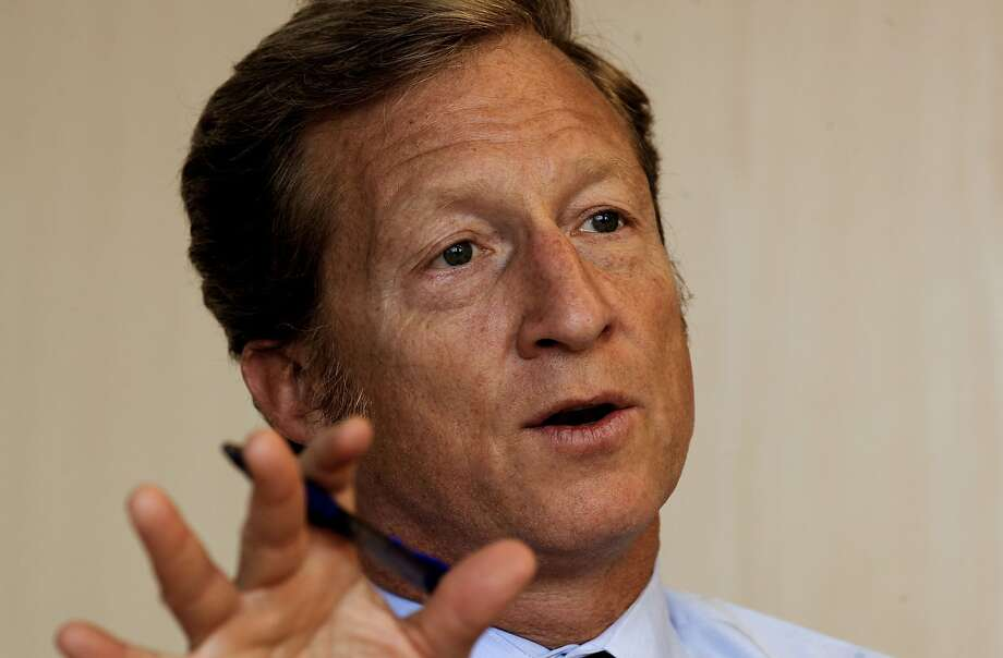 Venture capitalist Tom Steyer in 2010 teamed up with former Secretary of State George Schultz  to defeat an attempt to repeal California's AB32, the climate change bill. Photo: Michael Macor, The Chronicle