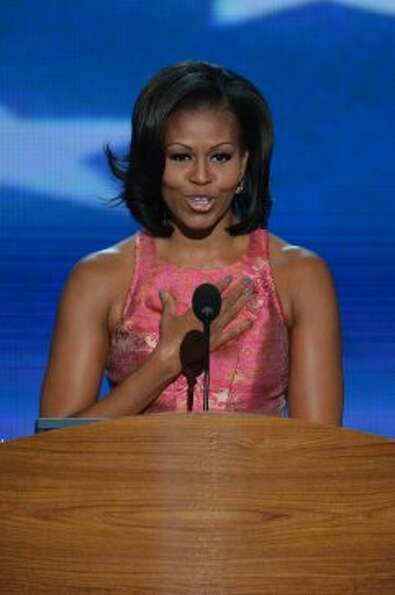 The first lady's manicured nails took center stage during her DNC speech with bloggers attempting to