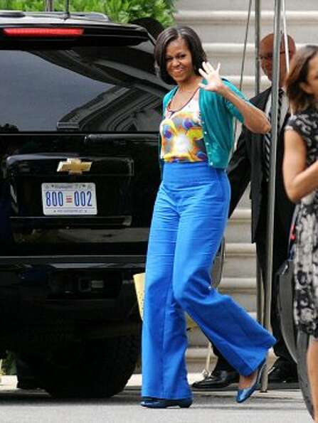 Michelle Obama departs the White House to attend an event at Sidwell Friends School on May 30, 2012