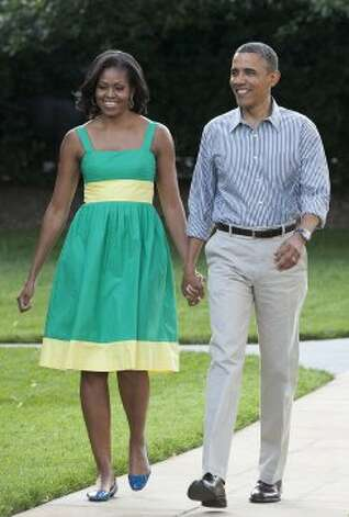 President Obama and Michelle Obama walk to the South Lawn of the White House on June 27, 2012 in Washington, D.C. (Pool / Getty Images)