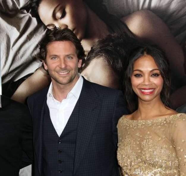 "Actor Bradley Cooper (L) and actress Zoe Saldana attend the Premiere Of CBS Films'""The Words&qu"