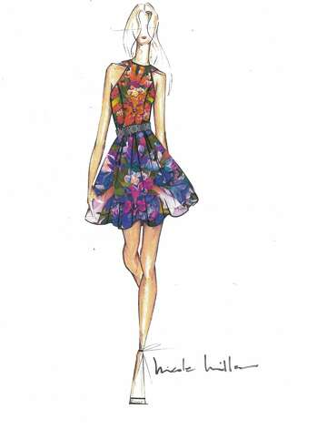 Nicole Miller's spring 2012 collection, partly inspired by nature, will mix floral prints and mash up other prints and patterns as well. (Courtesy Nicole Miller)