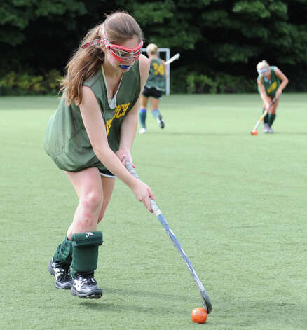 Eva Rosencrans of Greenwich Academy during field hockey practice at the school, Wednesday, Sept. 5, 2012. Photo: Bob Luckey / Greenwich Time