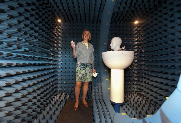 Kathy Barnes, senior director of network and device quality assurance at T-Mobile, shows a room where the company tests for radio frequency interference on Sept. 5, 2012 at T-Mobile's validation lab in Bellevue. Photo: Ron Wurzer/T-Mobile