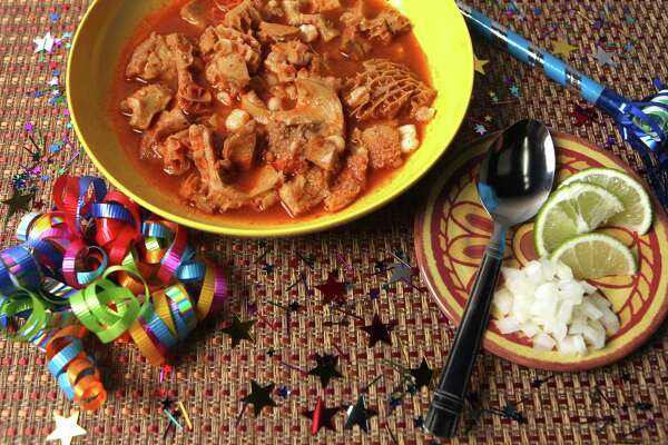 Menudo, a popular Mexican soup served at special occasions and holidays. Photographed Monday Dec. 27, 2010.