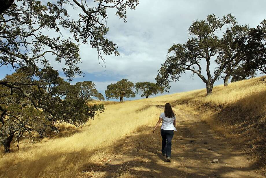 Nicole Byrd, executive director of the Solano Land Trust, walks on the Rockville Trails property. Photo: Michael Macor, The Chronicle