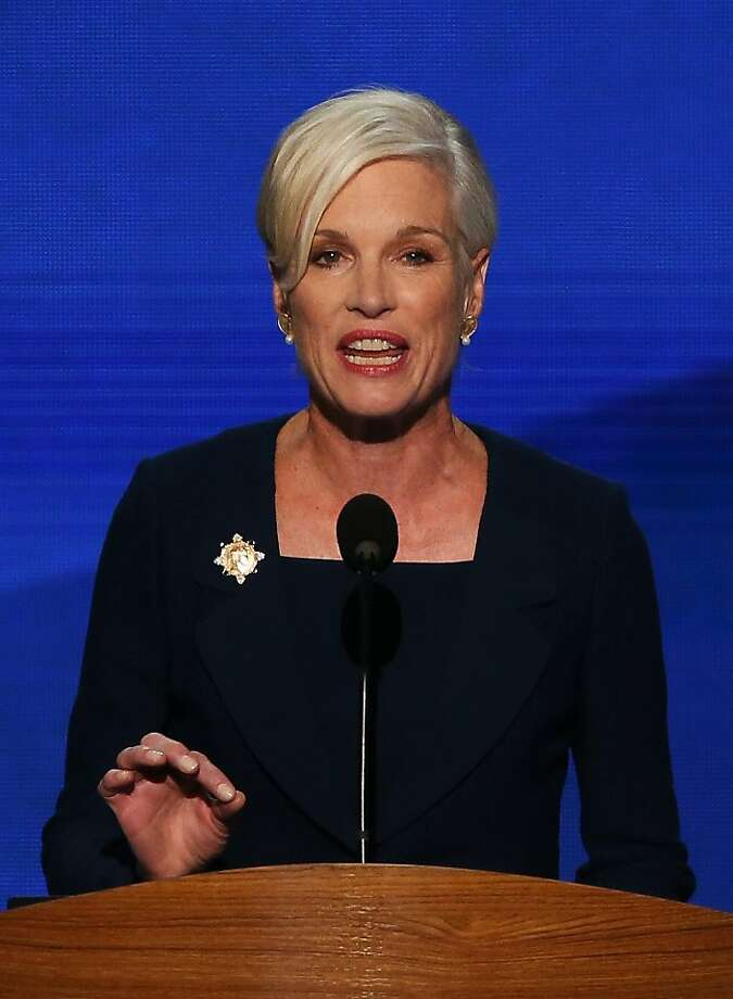 CHARLOTTE, NC - SEPTEMBER 05:  President of Planned Parenthood Federation of America Cecile Richards speaks on stage during day two of the Democratic National Convention at Time Warner Cable Arena on September 5, 2012 in Charlotte, North Carolina. The DNC that will run through September 7, will nominate U.S. President Barack Obama as the Democratic presidential candidate. Photo: Alex Wong, Getty Images