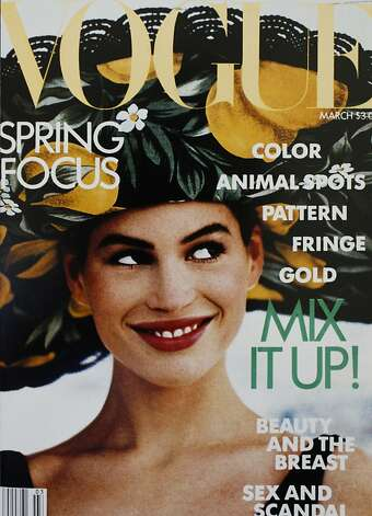 Early in her career on the covers of Vogue magazine. Photo: Courtesy Of Look Model Agency