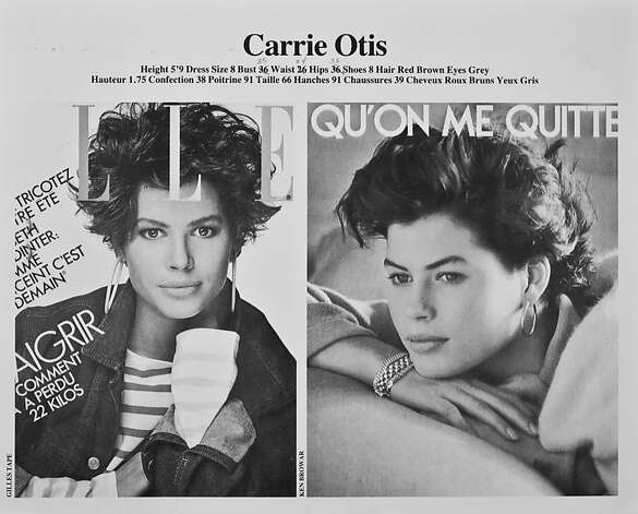 Shots from Carré Otis' portfolio as a successful young model. Photo: Courtesy Of Look Model Agency