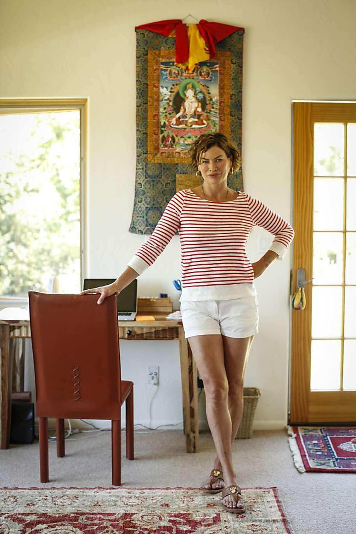 Model Carre Otis is seen at her Sebastopol, Calif., home on Thursday, July 5, 2012.