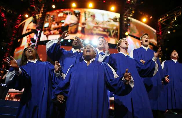 CHARLOTTE, NC - SEPTEMBER 05:  A choir performs on stage during day two of the Democratic National Convention at Time Warner Cable Arena on September 5, 2012 in Charlotte, North Carolina. The DNC that will run through September 7, will nominate U.S. President Barack Obama as the Democratic presidential candidate.  (Photo by Chip Somodevilla/Getty Images) Photo: Chip Somodevilla, Getty Images