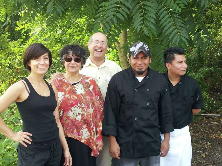 From left to right Du Soleil owners Maria Munoz Del Castillo, Soledad Del Castillo Blanco, alongside staff members Bernardo Munoz, Francisco Chavez and Antonio Juarez. Photo: Contributed Photo