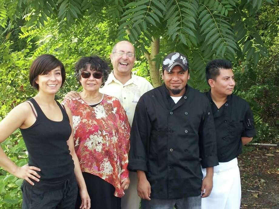 From left to right Du Soleil owners Maria Munoz Del Castillo, Soledad Del Castillo Blanco, alongside staff members Bernardo Munoz, Francisco Chavez and Antonio Juarez. Photo: Contributed Photo