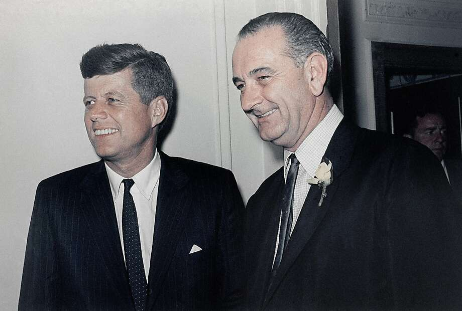 Kennedy and Johnson were candidates for the Democratic party's nomination. Photo: Anonymous, Associated Press