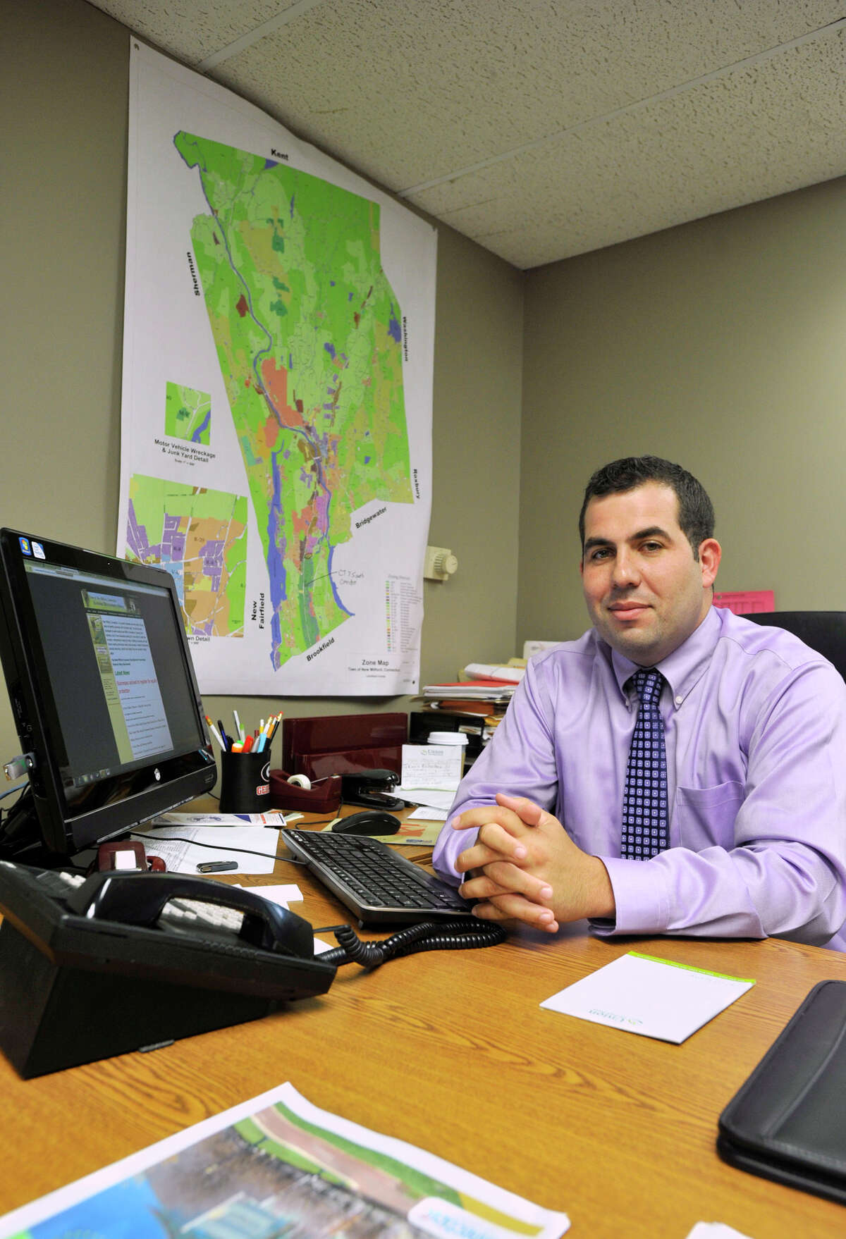 Luigi Fulinello is the town of New Milford's new economic development supervisor. Photographed on Wednesday, Sept. 5, 2012.