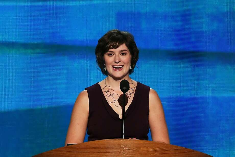 CHARLOTTE, NC - SEPTEMBER 05:  Attorney Sandra Fluke speaks during day two of the Democratic National Convention at Time Warner Cable Arena on September 5, 2012 in Charlotte, North Carolina. The DNC that will run through September 7, will nominate U.S. President Barack Obama as the Democratic presidential candidate. Photo: Alex Wong, Getty Images