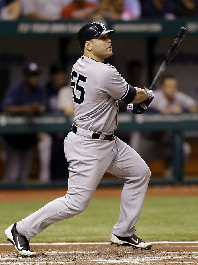 New York Yankees' Russell Martin bats against the Tampa Bay Rays. Photo: Chris O'Meara, Associated Press
