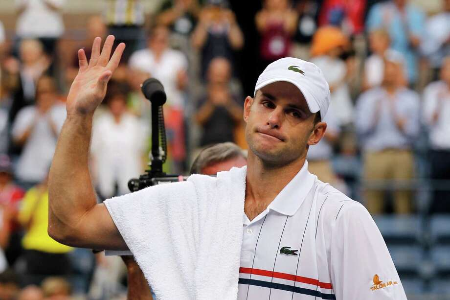 "It was a bittersweet ending for Andy Roddick as he told of the joy of his final U.S. Open - ""This week I felt like I was 12 years old, playing in a park"" - and of how difficult it is to face the end of his career. Photo: Mike Stobe / 2012 Getty Images"