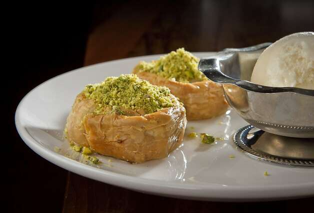 The Pistachio Baklava at Troya Mediterranean Kitchen in San Francisco, Calif., is seen on Saturday,  August 25th, 2012. Photo: John Storey