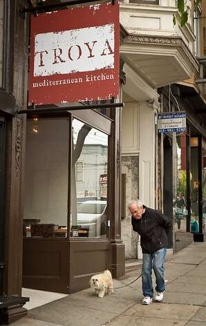 The exterior of Troya Mediterranean Kitchen in San Francisco, Calif., is seen on Saturday,  August 25th, 2012. Photo: John Storey
