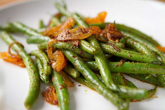 The Spiced Green Beans at Troya Mediterranean Kitchen in San Francisco, Calif., is seen on Saturday,  August 25th, 2012. Photo: John Storey