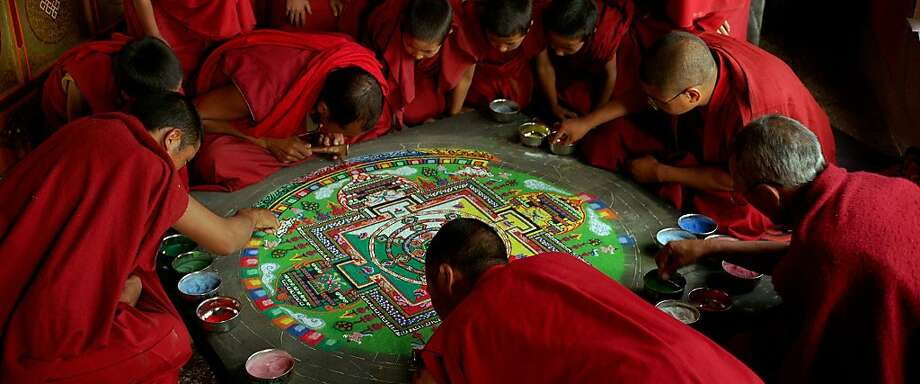 "A sand mandala is seen in, ""SAMSARA."" Photo: Oscilloscope Pictures"
