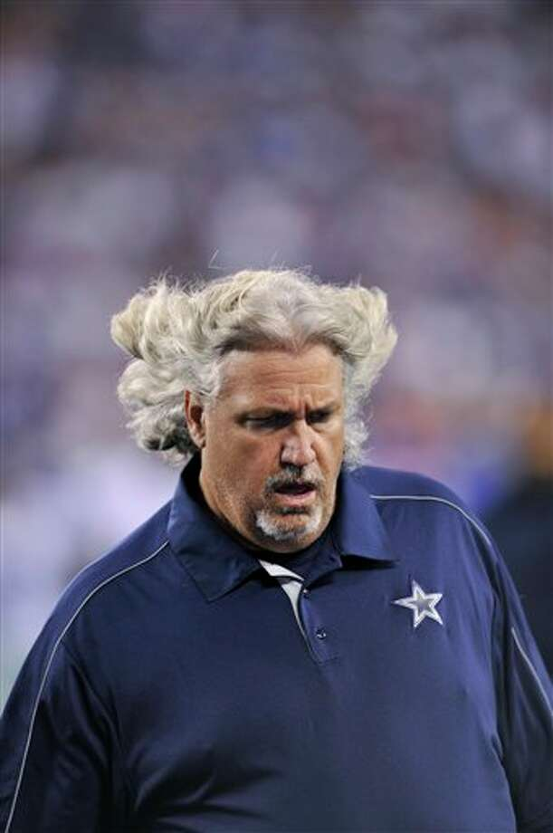 Dallas Cowboys defensive coach Rob Ryan during the first half of an NFL football game against the New York Giants Wednesday, Sept. 5, 2012, in East Rutherford, N.J. (AP Photo/Bill Kostroun) Photo: Bill Kostroun, Associated Press / FR59151 AP