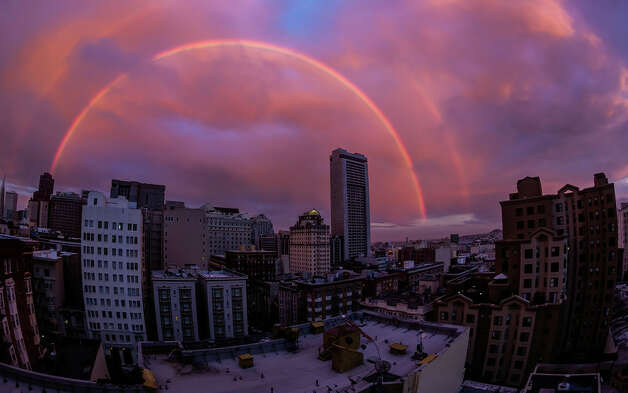 Double rainbow over San Francisco, Sept. 5, 2012 Photo: Toby Harriman, Courtesy Of Toby Harriman