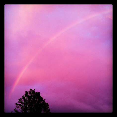 Sunset rainbow.  Instagram photo. Photo: Courtesy Of Sonia Savio