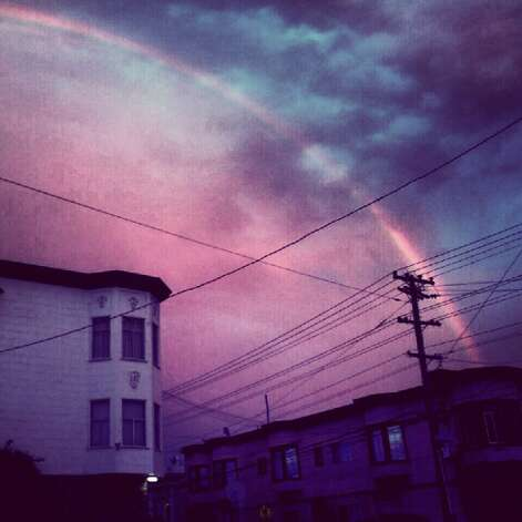 Rainbow over Mission. Photo: Courtesy Milton Repreza